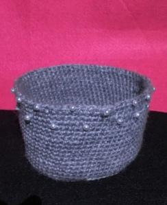 Cesta gris perlas