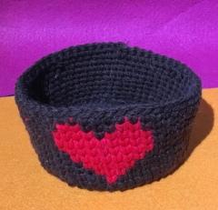 Cesta Azul - Corazón Rojo