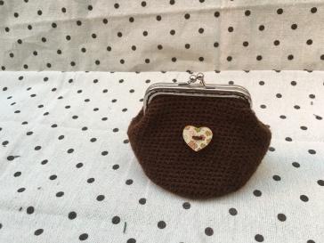 Monedero Marrón - Corazón