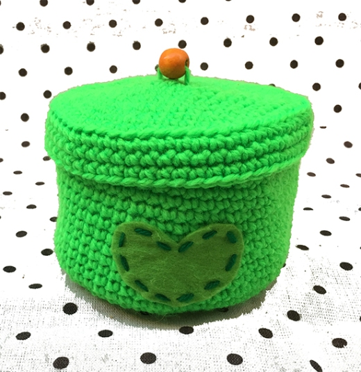 Cesto Verde - Tapa con Bola